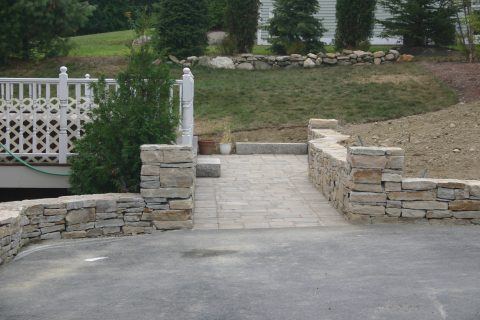 Stone Wall and Walkway